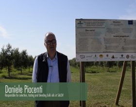 Daniele Piacenti, from Società Agricola F.Lli Fontana (Salov), explains the advances at La Traversagna